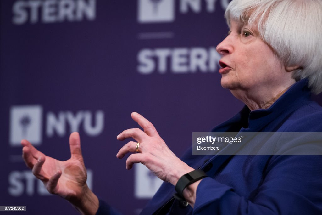 Federal Reserve Chair Janet Yellen Speaks At The NYU Stern Business School