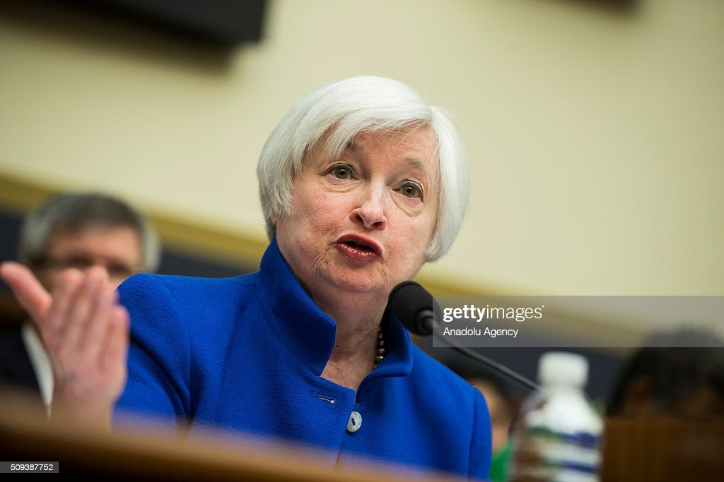 Janet Yellen, Chairwoman of the Federal Reserve Board of Governors, testifies during a House Financial Services Committee hearing on monetary policy and the state of the economy in Washington, USA on February 10, 2016.