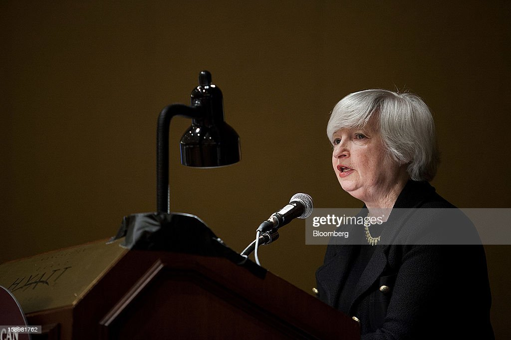 <a gi-track='captionPersonalityLinkClicked' href=/galleries/search?phrase=Janet+Yellen&family=editorial&specificpeople=2731344 ng-click='$event.stopPropagation()'>Janet Yellen</a>, vice chairman of the U.S. Federal Reserve, speaks at the American Economic Association's annual meeting in San Diego, California, U.S., on Friday, Jan. 4, 2013. Yellen said financial markets should be regulated more tightly to reduce the risk of 2008-like credit crises. Photographer: Sam Hodgson/Bloomberg via Getty Images