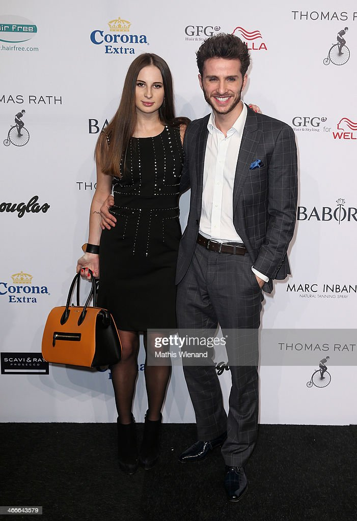 Janeta Surila and Andreas Rohner attend the Thomas Rath fashion show during Platform Fashion Dusseldorf on February 2, 2014 in Dusseldorf, Germany.