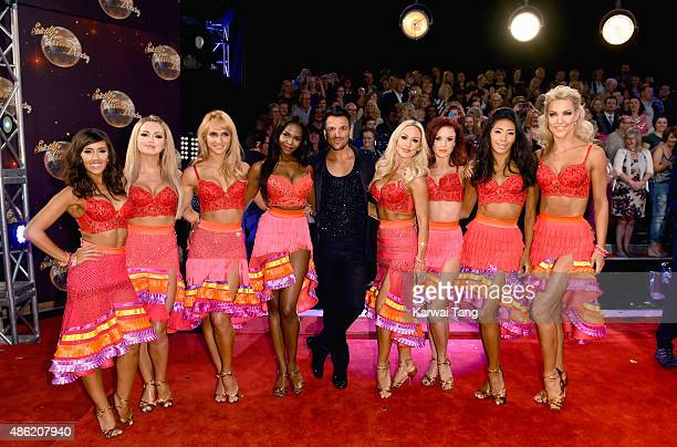 Janette Manrara Ola Jordan Aliona Vilani Otlile Mabuse Peter Andre Kristina Rihanoff Joanne Clifton Karen Clifton and Natalie Lowe attend the red...