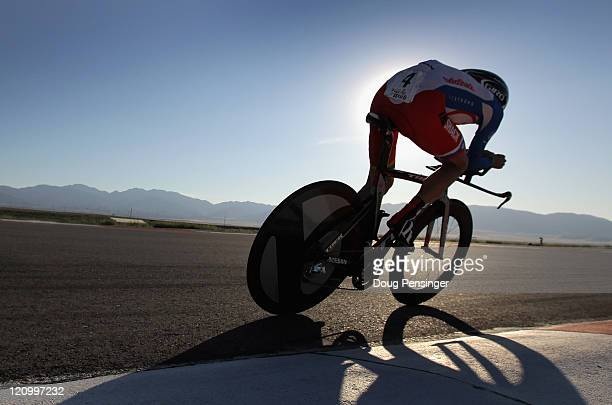 Janez Brajkovic of Slovenia and riding for Team Radioshack races to fourth place in the Individual Time Trial during Stage Three of the Tour of Utah...