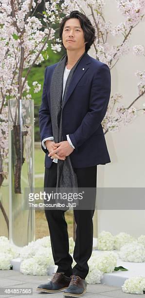 Jang Hyuk attends O JiHo's Wedding at The Shilla on April 12 2014 in Seoul South Korea