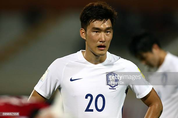 Jang Hyun Soo of South Korea reacts after the game ended in a 00 draw with Syria during the 2018 FIFA World Cup Qualifier Final Round Group A match...