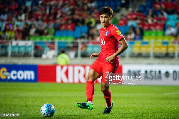 Jang Hyunsoo of Korea Republic in action during the 2018 FIFA World Cup Russia Asian Qualifiers Final Qualification Round Group A match between Korea...