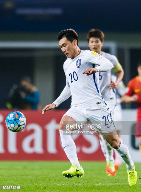 Jang Hyunsoo of Korea Republic in action during their 2018 FIFA World Cup Russia Final Qualification Round Group A match between China PR and Korea...