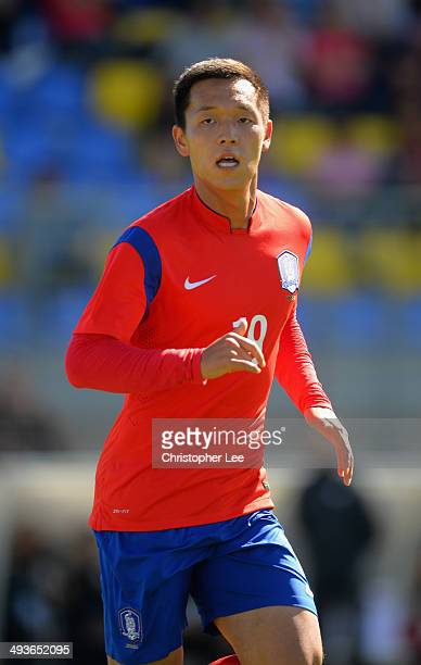 Jang Hyunsoo of South Korea in action during the Toulon Tournament Group B match between South Korea and Qatar at the Stade Perruc on May 24 2014 in...