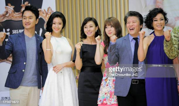 Jang HyunSung Clara Jang YoungNam Lee SeYoung Kwon HaeHyo and Cho MinSoo attend the SBS Drama 'Goddess of Marriage' Press Conference at sbs...