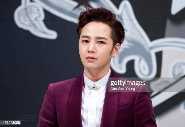 Jang KeunSuk attends the KBS2 Drama 'Pretty Man' press conference at Imperial Palace Hotel on November 18 2013 in Seoul South Korea