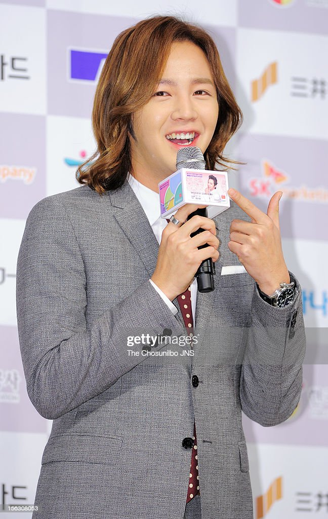 Jang Keun-Suk attends the 'Sumitomo Mitsui Card Korea Travel Prepaid' Press Conference at lotte hotel on November 13, 2012 in Seoul, South Korea.