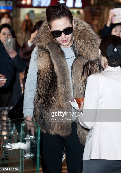 Jang KeunSuk is seen at Gimpo International Airport on December 10 2013 in Seoul South Korea