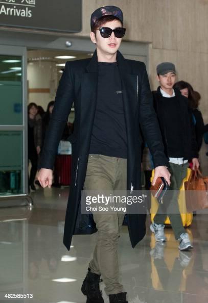 Jang KeunSuk is seen at Gimpo International Airport on January 11 2014 in Seoul South Korea
