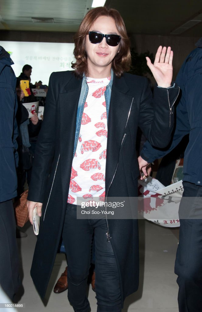 Jang Keun-Suk is seen at Gimpo International Airport on January 25, 2013 in Seoul, South Korea.