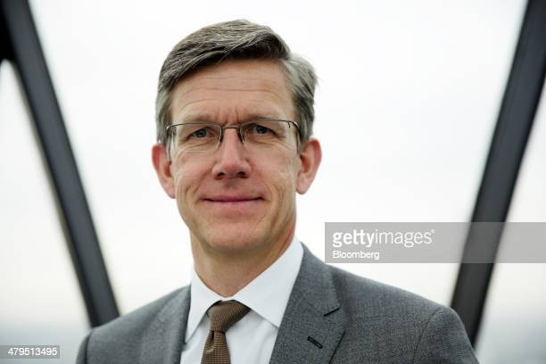 JanHenrik Lafrentz finance chief at Bentley Motors Ltd poses for a photograph following a news conference to announce the company's financial results...