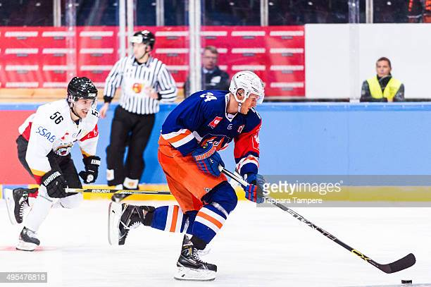 Jani Lajunen of Tappara Tampere during the Champions Hockey League round of eight game between Tappara Tampere and Lulea Hockey at Hakametsa on...