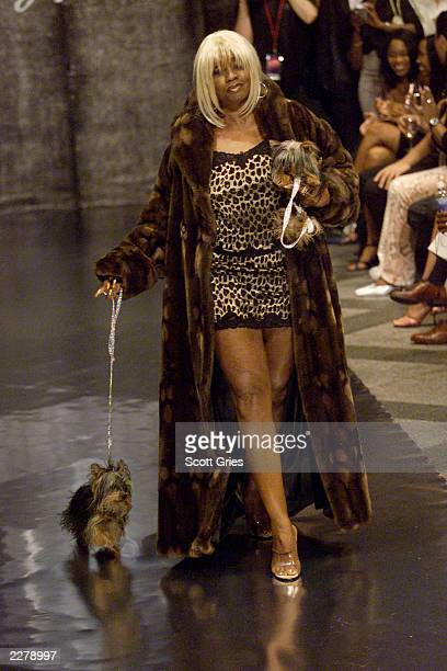 Janice Combs walks the runway at the Baby Phat Lingerie fashion show at the 4th Annual Urbanworld Film Festival launch partyThe event took place in...