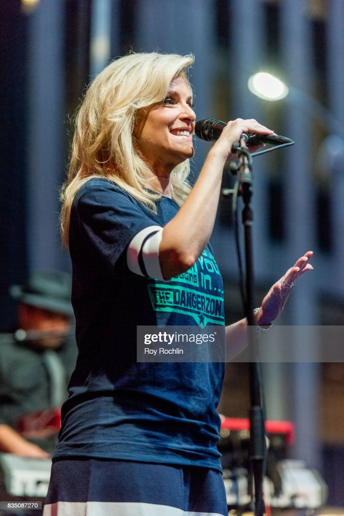 Janice Dean on stage as Kenny Loggins performs on Fox & Friends' All-American Summer Concert Series at FOX Studios on August 18, 2017 in New York City.