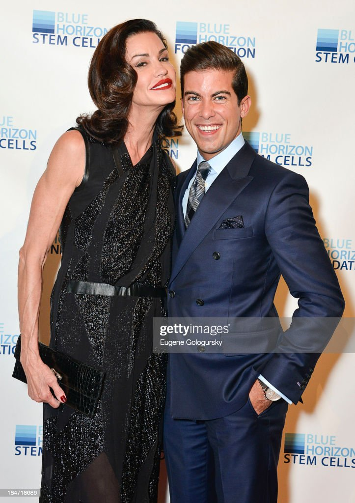 Janice Dickeinson and Luis D.Ortiz attend the 2nd Annual Blue Horizon Foundation Gala at Guastavino's on October 15, 2013 in New York City.