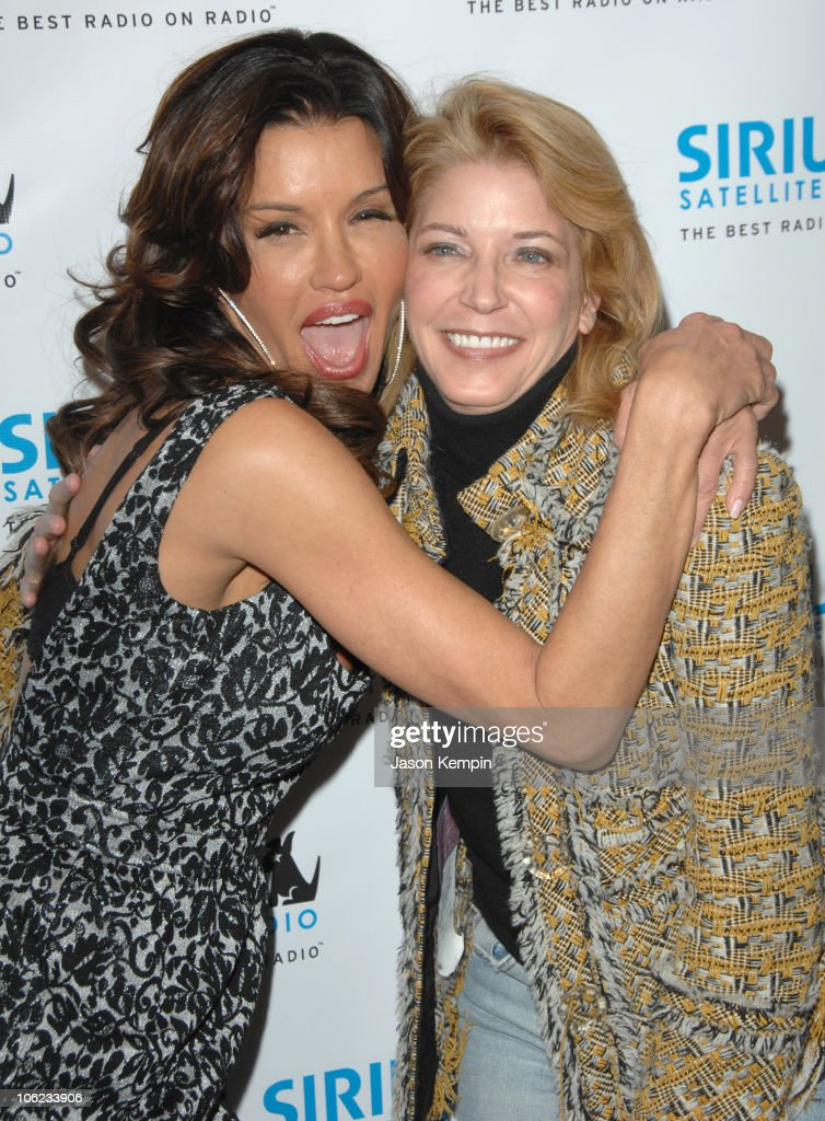 Janice Dickinson and Candace Bushnell during Jamie Foxx Launches 'The Foxxhole' Channel January 23 2007 at Sirius Satellite Radio Station in New York...