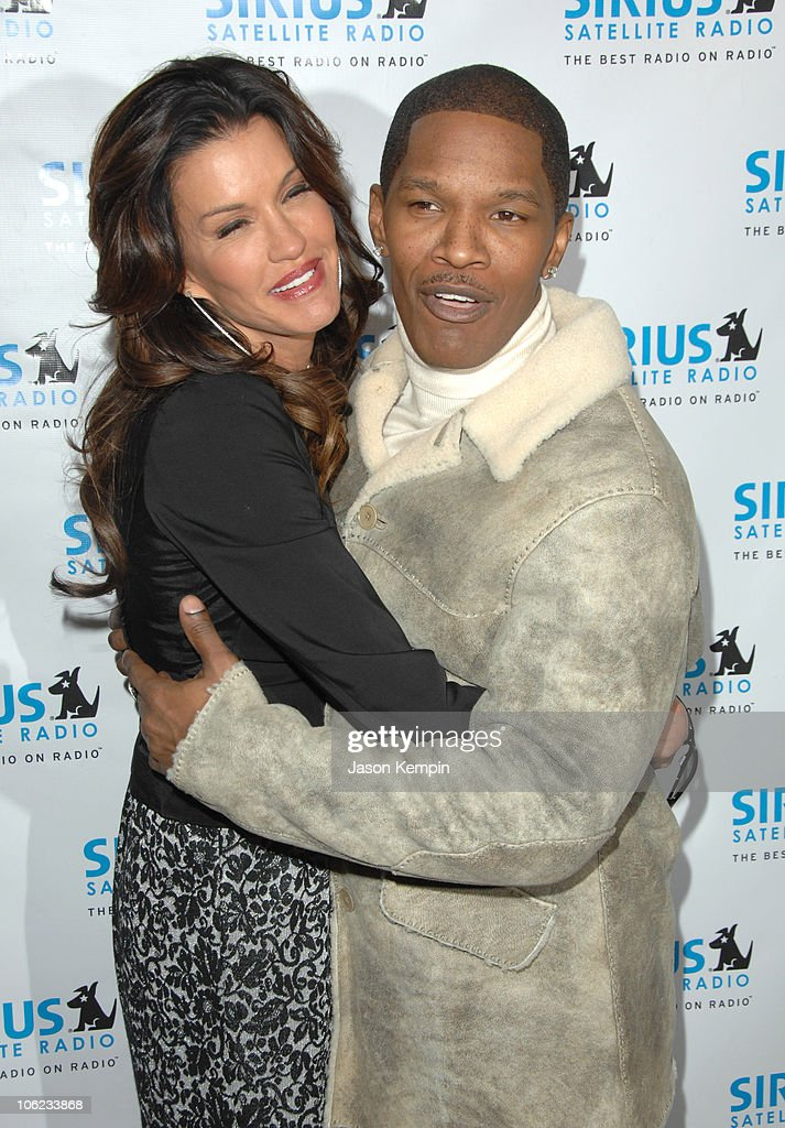 Janice Dickinson and Jamie Foxx during Jamie Foxx Launches 'The Foxxhole' Channel January 23 2007 at Sirius Satellite Radio Station in New York City...