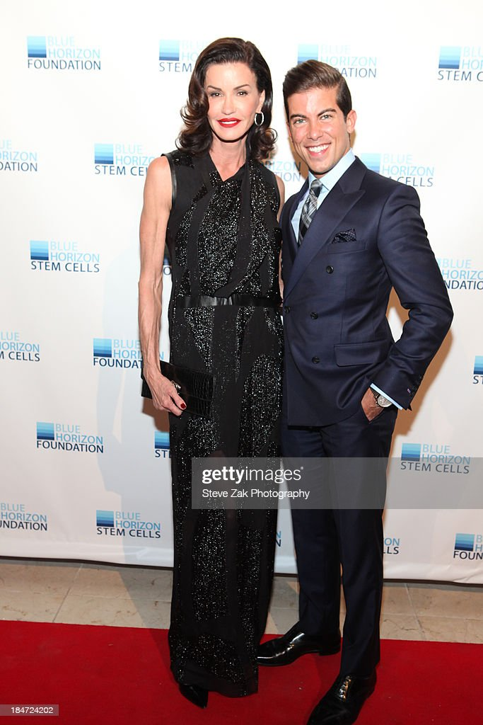 Janice Dickinson and Luis D. Ortiz attend the 2nd Annual Blue Horizon Foundation gala at Guastavino's on October 15, 2013 in New York City.