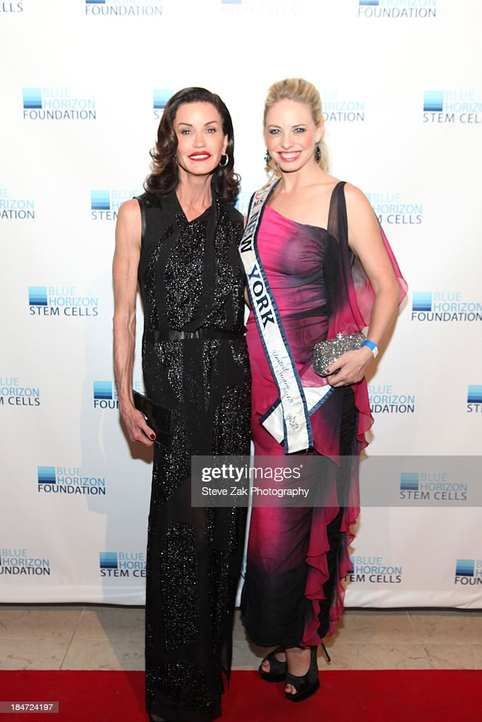 Janice Dickinson and 'Miss New York' Stephaine Jill Charnick attend the 2nd Annual Blue Horizon Foundation gala at Guastavino's on October 15, 2013 in New York City.