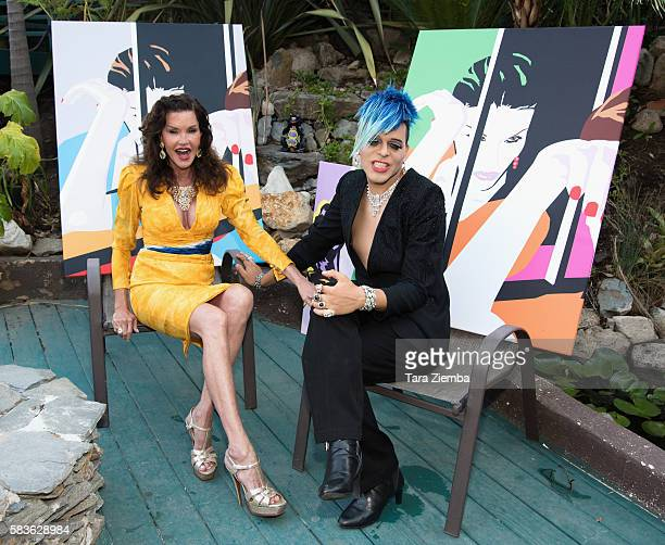 Janice Dickinson and Sham Ibrahim pose for a photo at her home on July 26 2016 in Los Angeles California