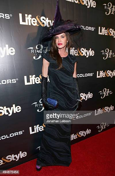 Janice Dickinson attends Life Style Weekly's 'Eye Candy' Halloween Bash hosted by LeAnn Rimes at Riviera 31 at Sofitel on October 29 2015 in Los...