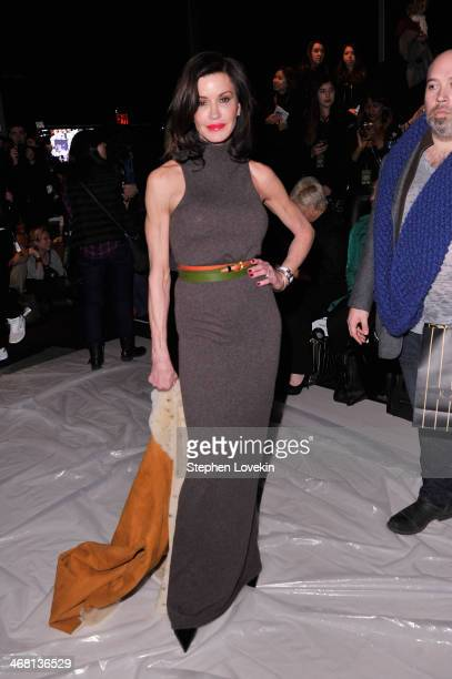 Janice Dickinson attends the Custo Barcelona fashion show during MercedesBenz Fashion Week Fall 2014 at The Salon at Lincoln Center on February 9...