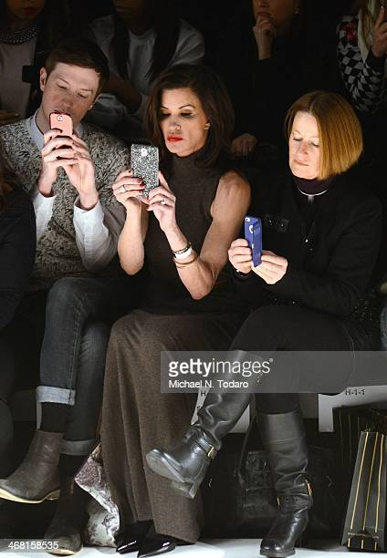 Janice Dickinson attends the Custo Barcelona show during MercedesBenz Fashion Week Fall 2014 at The Salon at Lincoln Center on February 9 2014 in the...