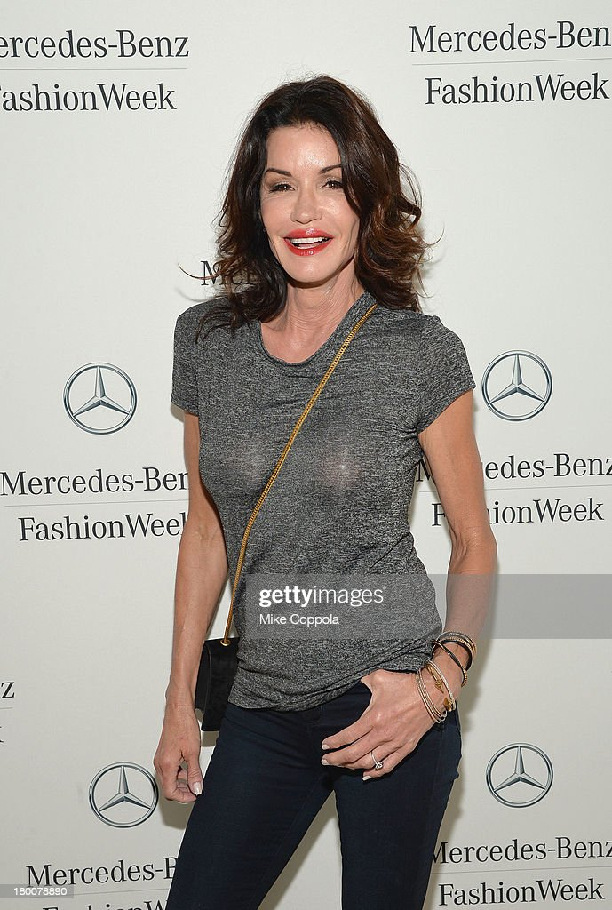 Janice Dickinson attends the Mercedes-Benz Star Lounge during Mercedes-Benz Fashion Week Spring 2014 on September 8, 2013 in New York City.