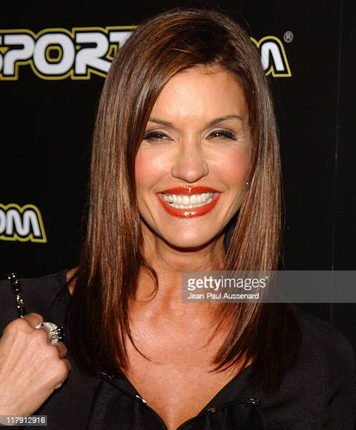 Janice Dickinson during 2005 BosPokercom Celebrity Poker Tournament Arrivals at Private Residence in Beverly Hills California United States