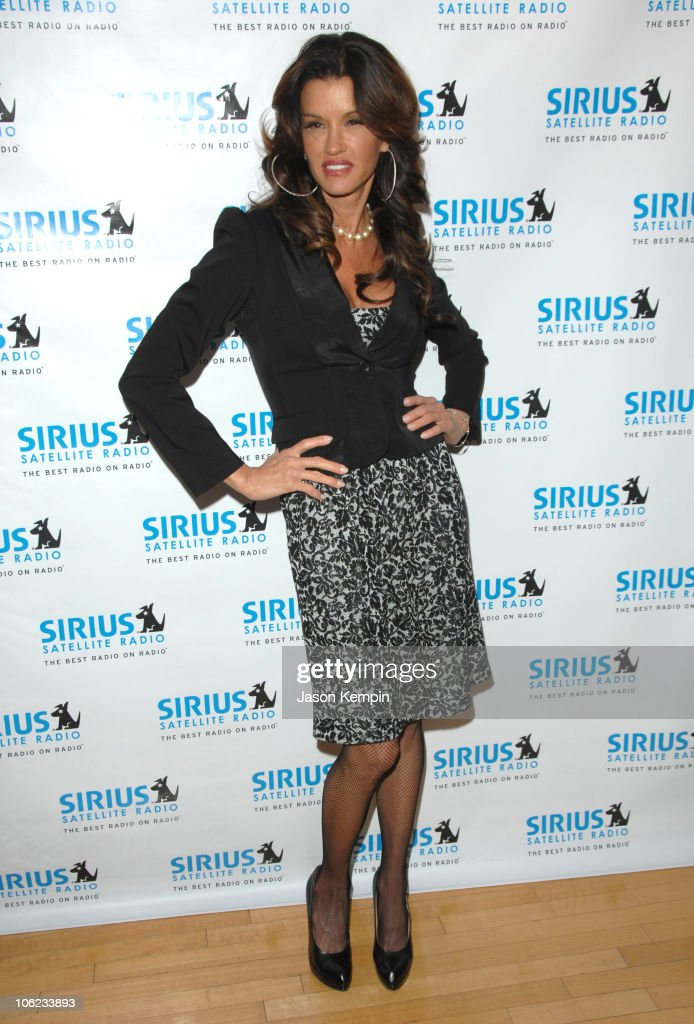 Janice Dickinson during Jamie Foxx Launches 'The Foxxhole' Channel January 23 2007 at Sirius Satellite Radio Station in New York City New York United...