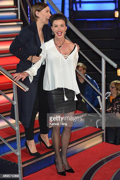 Janice Dickinson is evicted from the Celebrity Big Brother house ahead of the final on Thursday September 24 at Elstree Studios on September 22 2015...