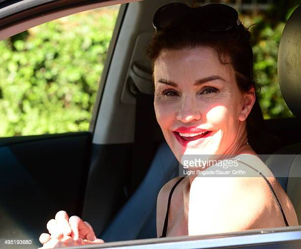 Janice Dickinson is seen in Los Angeles Ca on October 31 2015 in Los Angeles California