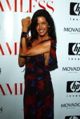Janice Dickinson wearing a Movado watch during Vogue Magazine Presents a Screening to Celebrate 'Seamless' Sponsored by HP Movado Redken and Shiseido...