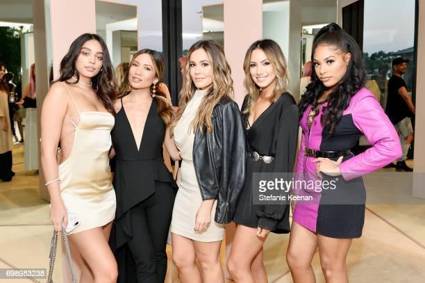 Janice Joostema Jessi Malay Shae Wilber Lynette Cenee and Raye Boyce celebrate The Launch Of KKW Beauty on June 20 2017 in Los Angeles California