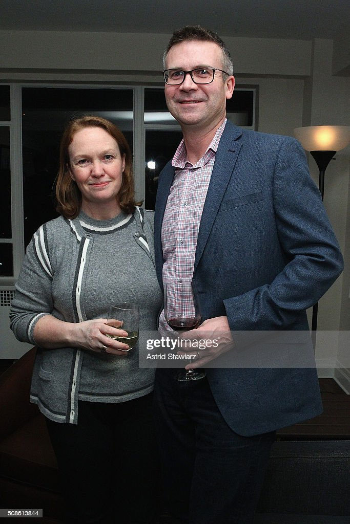 Janice Leigh (L) and Terry Leigh attend an intimate evening of friends and colleagues at Mr. Colin Dougherty's New York City apartment on February 5, 2016 in New York City.