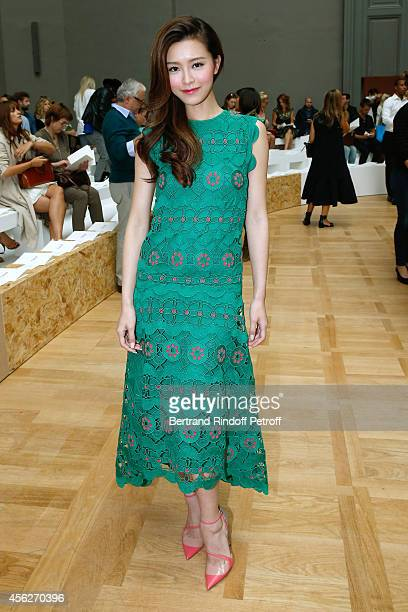 Janice Man attends the Chloe show as part of the Paris Fashion Week Womenswear Spring/Summer 2015 on September 28 2014 in Paris France