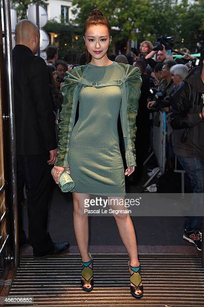 Janice Man attends the Jean Paul Gaultier show as part of the Paris Fashion Week Womenswear Spring/Summer 2015 on September 27 2014 in Paris France