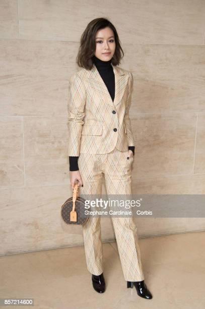 Janice Man attends the Louis Vuitton show as part of the Paris Fashion Week Womenswear Spring/Summer 2018 at Musee du Louvre on October 3 2017 in...
