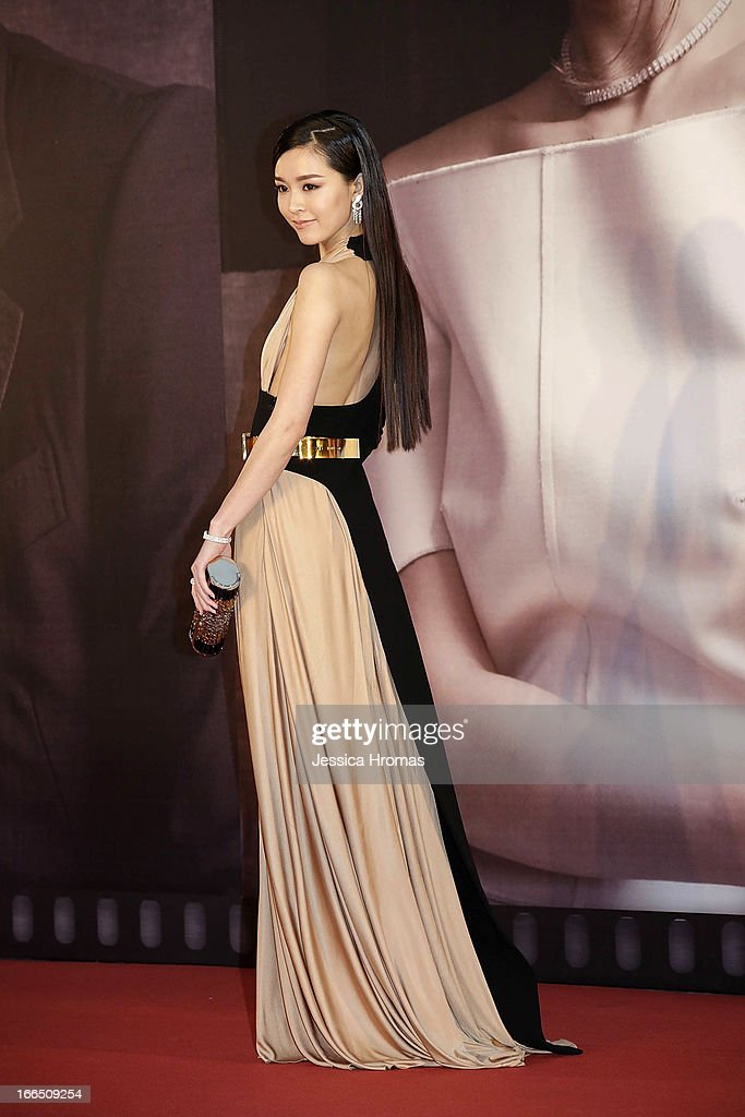 Janice Man on the red carpet at the 2013 Hong Kong Film Awards on April 13, 2013 in Hong Kong, Hong Kong.