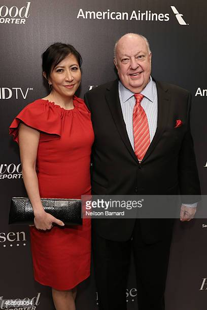 Janice Min and Roger Ailes attend 'The 35 Most Powerful People In Media' celebrated by The Hollywoood Reporter at Four Seasons Restaurant on April 8...