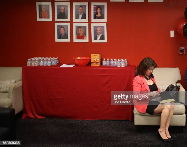 Janice Montalvo waits to be interviewed for a seaonal job during a job fair at the JC Penny department store in the Dadeland Mall on October 17 2017...