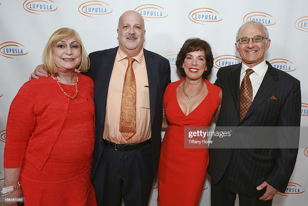 Janice Wallace and Dr. Daniel J. Wallace, Phyllis Schapira and Dr. Jay Schapira attend Lupus LA Orange Ball at the Beverly Wilshire Four Seasons Hotel on May 9, 2013 in Beverly Hills, California.