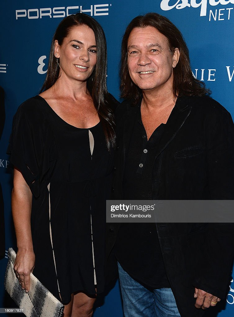 Janie Liszewski and <a gi-track='captionPersonalityLinkClicked' href=/galleries/search?phrase=Eddie+Van+Halen&family=editorial&specificpeople=790150 ng-click='$event.stopPropagation()'>Eddie Van Halen</a> attend Esquire 80th Anniversary And Esquire Network Launch Celebration at Highline Stages on September 17, 2013 in New York City.