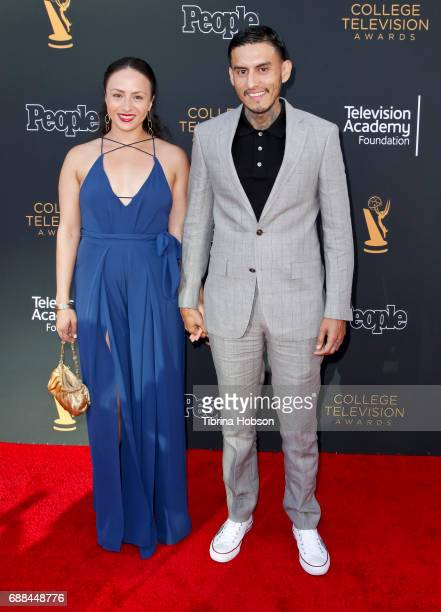Janiece Sarduy and Richard Cabral attend the 38th College Television Awards at Wolf Theatre on May 24 2017 in North Hollywood California