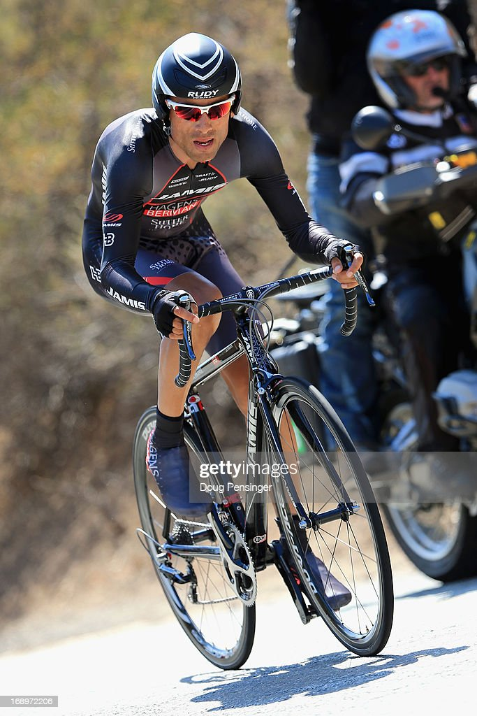 Janier Acevedo of Columbia riding for Jamis-Hagens Berman races in the Individual Time Trial during Stage Six of the 2013 Amgen Tour of California on May 17, 2013 in San Jose, California.