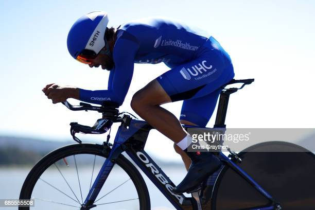 Janier Alexis Acevedo Calle of Colombia riding for UnitedHealthCare Pro Cycling during stage five of the AMGEN Tour of California from Ontario to Mt...