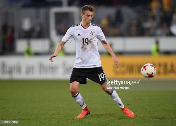 Janik Haberer of Germany controls the ball during the U21 International Friendly match between Germany U21 and Portugal U21 at GaziStadion auf der...